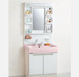 洗面化粧台BTG75SYPS+M-751KTGH写真